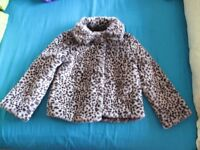 Kids Fake Fur Leopard Jacket - (Size 9-10) from M&S