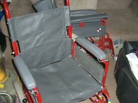 STURDY WHEELCHAIR [ WHEEL CHAIR ] FOLDS DOWN FOR STORAGE location CLACTON ON SEA . ESSEX , CO15