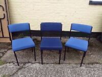 3 Office or Bedroom Study Chairs Deliver Available