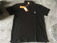 Hugo boss men's polo shirts short sleeves black size XL brand new £18