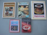 Five Various Vintage Cook Books for £5.00