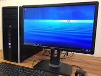 "Gaming PC / HP / Win 10 / i5 / 8 GB Ram / GeForce HDMI / Wifi / Dell 22"" Full HD Screen / Computer"