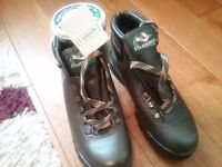 Walking boots,inc nikwax for protection, over 20 yrs old, never worn size 8