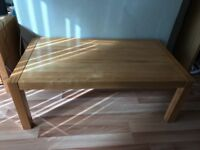 Solid wood Creations coffee table (matching TV cabinet also available)