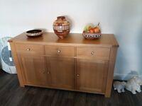 Solid light oak sideboard