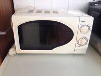 Plain white microwave