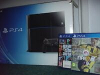 SONY PS4 (BOXED) & 2 GAMES