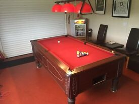 Superleague Pool table 7' x 4' c/w Hanging Light fitting