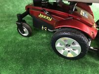 2011 Pride Jazzy Select 6 Powerchair in red MWD Electric Wheelchair 4mph