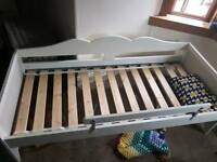 Cot bed - white - ikea - vg condition