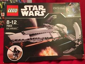 Star Wars Lego - Sith Infiltrator 7663 - Exclusive Edition
