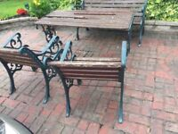 Good Quality Heavy Cast Iron Garden Furniture Patio Set- DELIVERY AVAILABLE