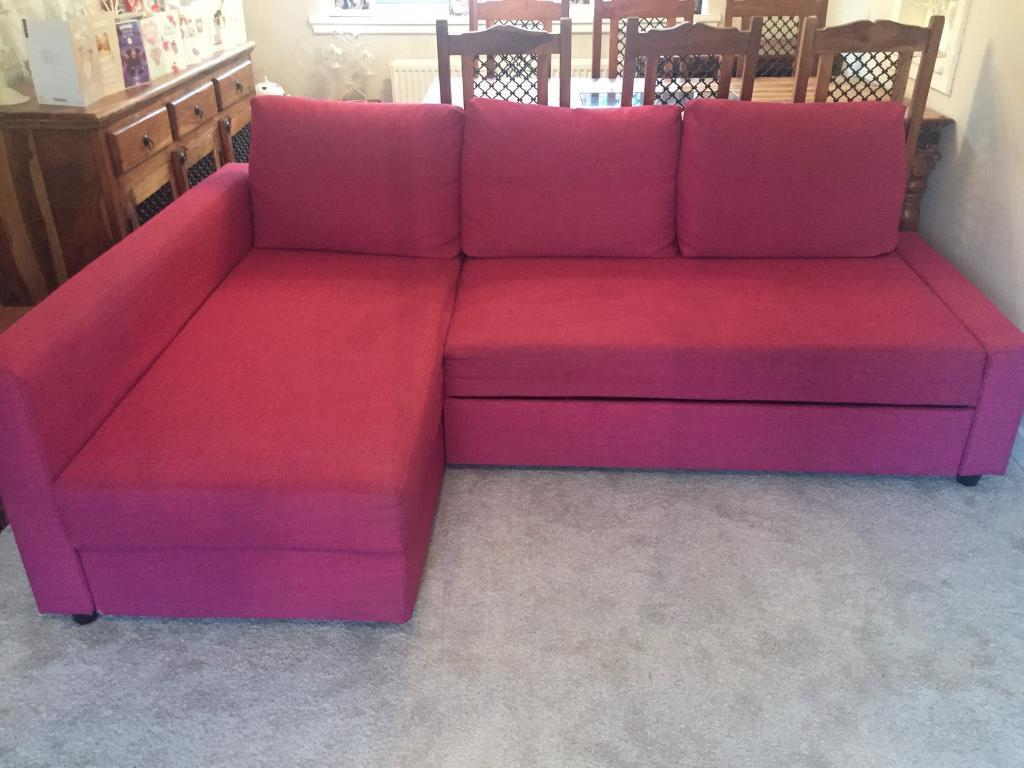 Ikea Friheten Limited Edition Pink Corner Sofa Bed In