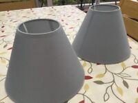 2 matching lamp shades