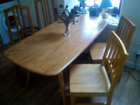 Dining Table (ERCOL) & Chairs