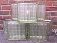 8 x Glass bricks/blocks