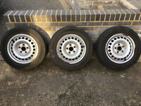 3 x 205/65R16C VW Transporter wheels and tyres - worn but legal