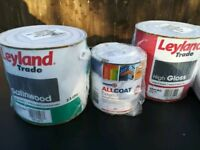 Zinsser/layland trade, high quality sealed paints new and 2 Harris sealed drop cloths.