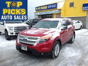 2012 Ford Explorer XLT WITH LEATHER, NAVIGATION AND MORE!