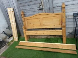 Corona Bed Frame 4ft6 Double Low End all complete with IKEA double mattress
