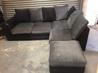 Corner sofa & footstool