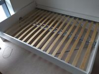 IKEA BRIMES White Double Bed - Great Condition