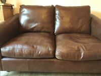 Laura Ashley Baslow range, 2 seater sofa in Harvest leather