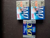 PANASONIC & JVC 60 MINUTE SP (90LP) MINI CAMCORDER TAPES