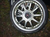 alloy wheels set 4 4 stud astra bmw ect 18 inch with tyres