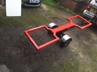 car spec lift towing dolly professionally made with new straps and new light board