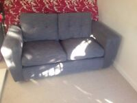 NEW DFS GREY 2 SEATER SOFA CAN DELIVER FREEEE