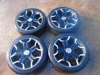 Citroen DS3 4 Stud 17 Inch Black Alloy Wheels 9687754377