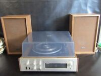 VINTAGE ONKYO SM-710 STEREO WITH AM/FM RADIO, AUTOMATIC TURNABLE & SPEAKERS IN FULL WORKING ORDER