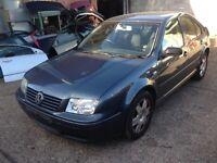 VW Bora/mk4 Golf 1.6 petrol engine/alloy wheels/interior/grey colour doors/wings/bonnet/boot/lights