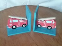Children's Fire Engine Book Ends by Sass and Belle
