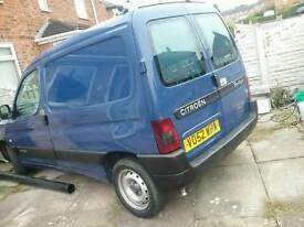Blue Citroen Van