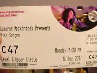 5 x tickets for Miss Saigon Cardiff 18 Dec