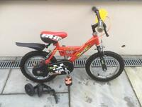 RALEIGH MINI BOYS BIKE WITH STABILIZERS