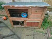 Free double ginepig hatch and run needs tlc