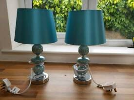 2 table or bedside three ball lamps