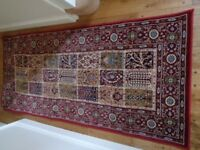 Ikea Valby Ruta Red/Blue Pattern Persian Style Rug Runner 80 x 180cm