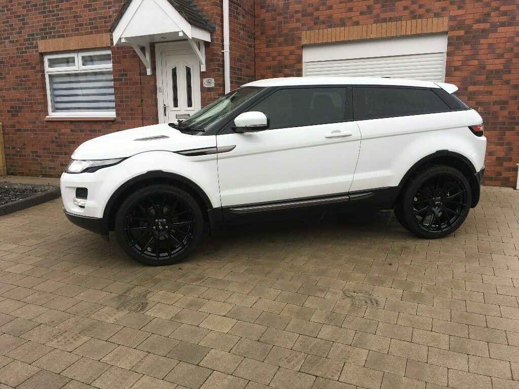 range rover evoque white fsh land rover low miles. Black Bedroom Furniture Sets. Home Design Ideas