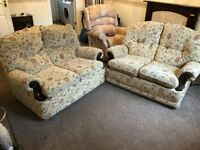 Two fabric sofas