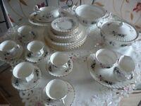 Royal Kent Bone China Dinner/Tea Set Pattern Sylvia. 38 Pieces