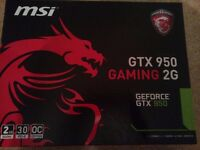 GeForce GTX 950 GAMING 2GB OverClocked Twin Frozr DirectX 12 Graphics Card