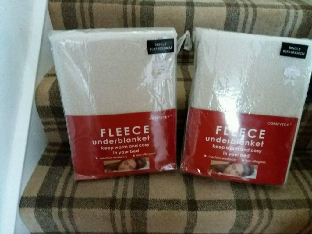 Single fleece under blankets