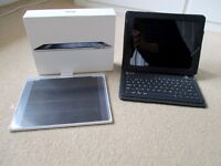 Apple iPad 3 32GB Black and Silver, boxed with Bluetooth Case / Keyboard and Apple Leather Cover