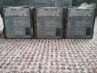 Brand new full boxes of screws. Various sizes. Discounts for bulk buying.