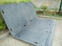 endura mats for supporting portacabins,skips,any site or private ground use.Used once excellent mats