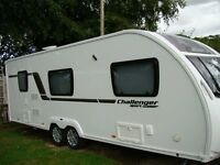 6 Berth Sterling Sport 636 twin axle caravan, immaculate condition, full size awning included